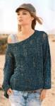 Пуловер с узором со спущенными петлями