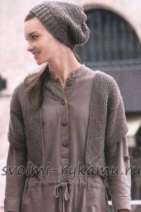 Короткий жилет и шапочка