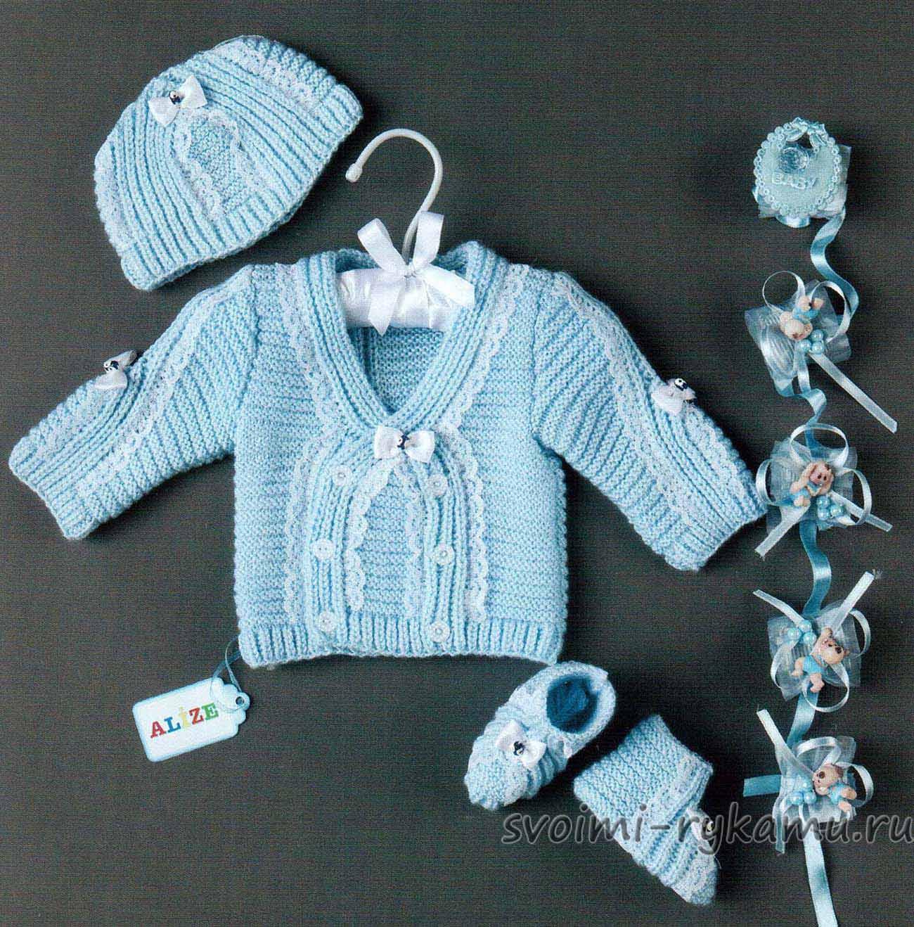 Вязание для новорожденных для мальчиков просто6